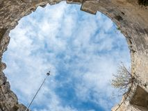 Ruined architecture in Les Baux-de-provence Royalty Free Stock Image