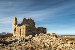Ruined stone building at Occi in Corsica Stock Images