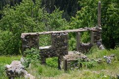 Ruined stone house Stock Images