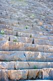 Ruined stone steps of ancient theater Stock Photo