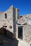 Ruined stone walls in Susak,Croatia Royalty Free Stock Images