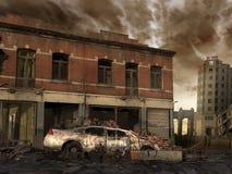 Ruined street Royalty Free Stock Photo