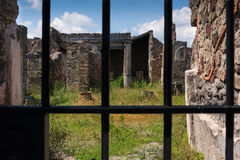 Ruined Structures Remain in Pompeii Royalty Free Stock Photos