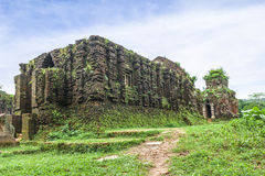 Ruined temple of the ancient Champa Royalty Free Stock Images