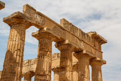 Ruined temple in the ancient city of Selinunte, Sicily Royalty Free Stock Image