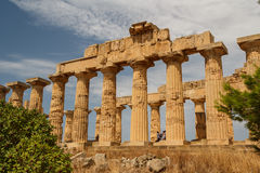 Ruined temple in the ancient city of Selinunte, Sicily Stock Photo