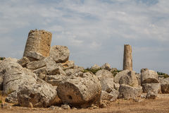 Ruined temple in the ancient city of Selinunte, Sicily Royalty Free Stock Photography