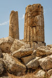 Ruined temple in the ancient city of Selinunte, Sicily Stock Images