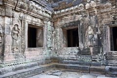 Ruined temple of Angkor wat, Cambodia Royalty Free Stock Photos
