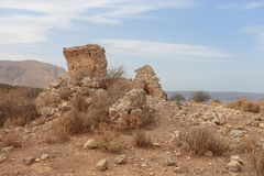Ruined temple at Aptera on Crete Royalty Free Stock Photography