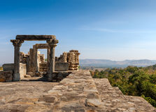 Ruined temple in the Kumbhalgarh fort complex, Rajasthan, India, Royalty Free Stock Photo