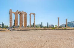 The ruined temple of Olympian Zeus Stock Photography