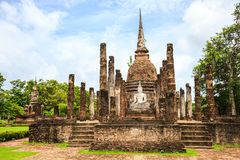 Ruined temple in sukhothai historical park Stock Image