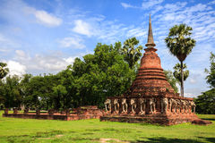 Ruined temple in sukhothai historical park Stock Photo