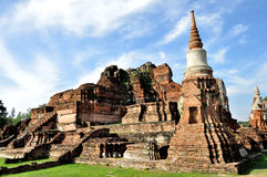 Ruined Temple at Wat Phra Mahathat Stock Images