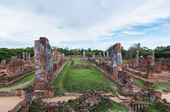 Ruined Temple, Wat Phra Si Sanphet, at Ayutthaya Historical Park Royalty Free Stock Photos