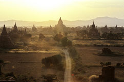 Ruined temples- Bagan, Myanmar (Burma) Royalty Free Stock Photos
