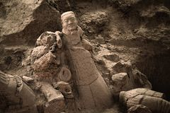 Ruined terracotta warrior Stock Image
