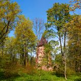 Ruined tower Chapelle in Pushkin Town, Russia Royalty Free Stock Photos