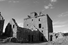 Ruined Tower in Dunnottar Castle Royalty Free Stock Photos