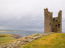 Ruined Tower of Dunstanburgh Castle Stock Photos