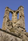 Ruined tower of the fifteenth century church Royalty Free Stock Photo