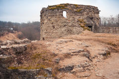 Ruined tower of Koporye Fortress, Russia Royalty Free Stock Image