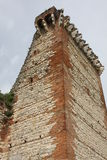 Ruined Tower of the medieval castle of Romeo in montecch Stock Images