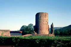 Ruined Tower  in Wales. Ruined Tower in Wales in spring Stock Images