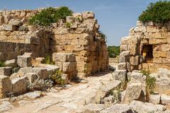 Ruined town gate in the ancient city of Selinunte, Sicily Stock Photography
