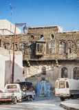 Ruined traditional wooden house in damascus syria Royalty Free Stock Photo