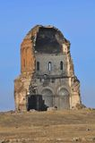 Ruined Turkish church. Exterior of ruined church remains in medieval city of Ani, Kars province, Turkey Stock Images