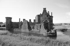 Ruined Turret at Caerlaverock Castle Stock Photography