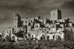 Ruined village of Craco Stock Photography