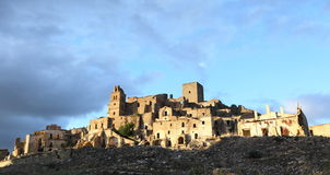 Ruined village in Craco Royalty Free Stock Photography