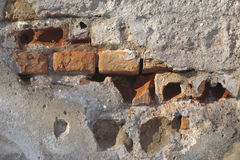 Ruined wall Stock Photo