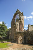 Ruined wall of ancient Dryburgh abbey Royalty Free Stock Photo