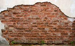 Free Ruined Wall Of Old Brick House Royalty Free Stock Image - 127094496