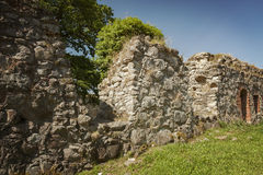 Ruined wall section Royalty Free Stock Image