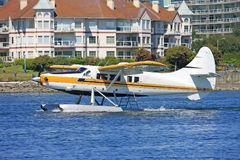 Seaplane taxiing Royalty Free Stock Image