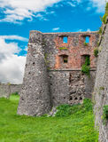 Ruined walls of ancient fortress in Ukraine Stock Photos