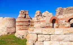 Ruined walls around the Nessebar town, Bulgaria Stock Photography