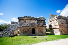 Ruined walls, El Caracol near Chichen Itza Royalty Free Stock Photos