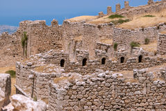 Ruined walls of the fortress. Royalty Free Stock Photos