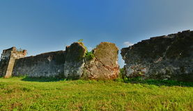 Ruined walls. Imperial City. Hué. Vietnam Stock Photo