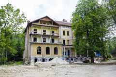 Ruined walls of the old building in Zakopane Royalty Free Stock Photography