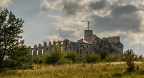 Ruins of Rabsztyn castle near Krakow, Poland royalty free stock photography