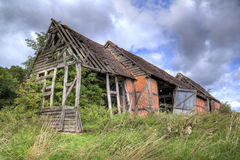 Ruined Warwickshire barn Royalty Free Stock Images