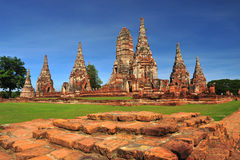 Ruined wat chaiwattanaram,ayutthaya, thailand Royalty Free Stock Photo