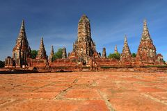 Ruined wat chaiwattanaram,ayutthaya, thailand Stock Photo